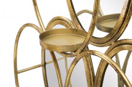 Oglinda de perete cu Suport lumanare GLAM, 54X10X118 cm, Mauro Ferretti4