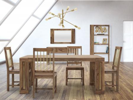 Oglinda ELEGANT, lemn masiv sheesham, 120X3X73 cm, Mauro Ferretti6