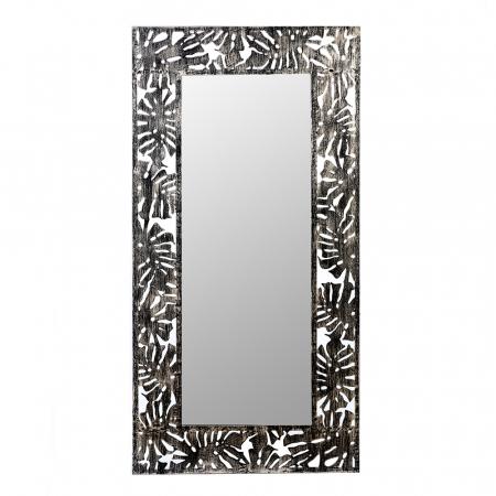 Oglinda FLORA, metal/sticla, 120x60 cm0