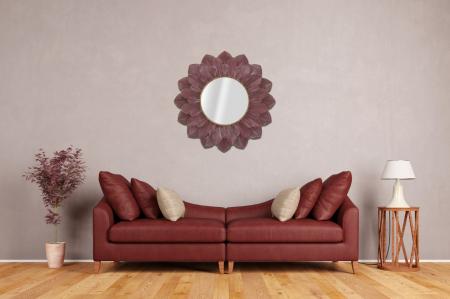Oglinda GLAM BORDEAUX (cm) Ø 100X4,57