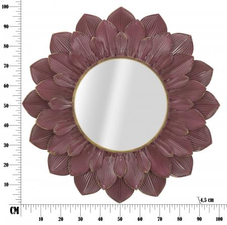 Oglinda GLAM BORDEAUX (cm) Ø 100X4,58