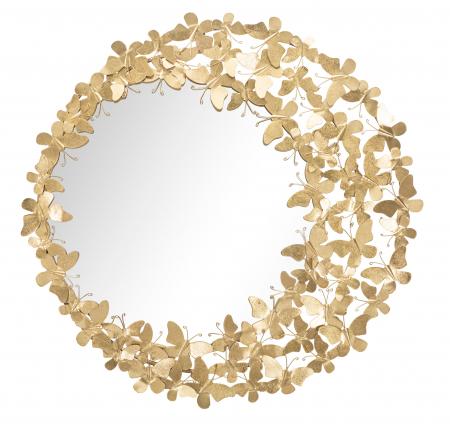 Oglinda GLAM BUTTERFLY WIND, 81.5X3.5 cm (oglinda Ø55 cm), Mauro Ferretti [1]