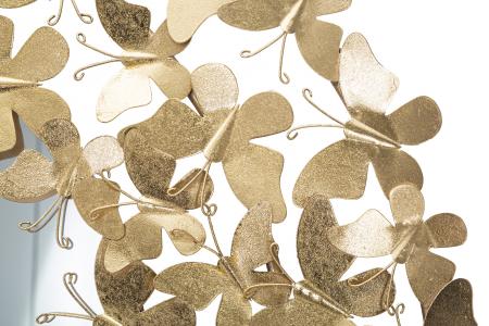 Oglinda GLAM BUTTERFLY WIND, 81.5X3.5 cm (oglinda Ø55 cm), Mauro Ferretti [2]