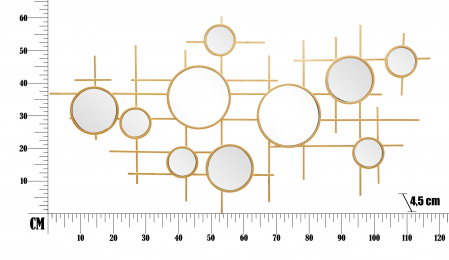 Oglinda GLOXY CM 117X4,5X61 (oglinda CM Ø 18-13-8), Mauro Ferretti [5]