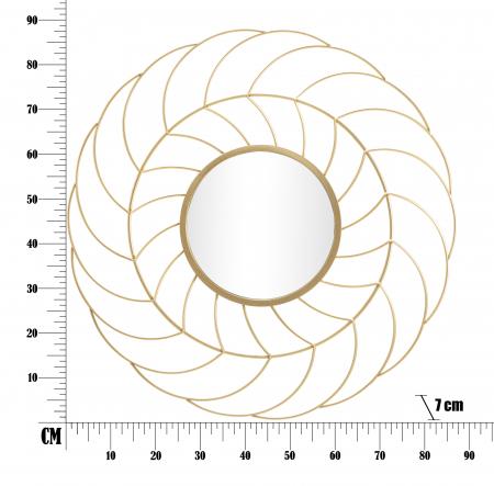 Oglinda SUNFLOWER CM Ø 88X7 (oglinda CM Ø 33), Mauro Ferretti5