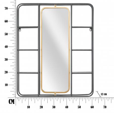 Oglinda cu rafturi INDUSTRY CM 62,5X12X74,5, Mauro Ferretti [4]