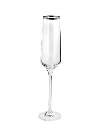 Pahar pentru sampanie PLATINUM, sticla, 26x6 cm0