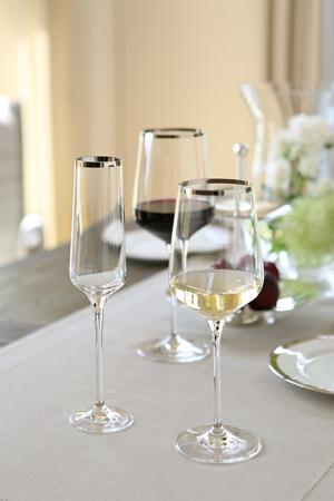 Pahar pentru sampanie PLATINUM, sticla, 26x6 cm2
