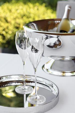 Pahar pentru sampanie SALVADOR, sticla, 26x7.3 cm2