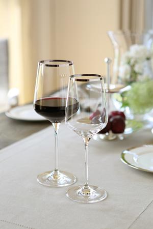 Pahar pentru vin PLATINUM, sticla, 25x9 cm2