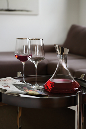 Pahar pentru vin PLATINUM, sticla, 27x10cm2