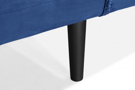 Pat de zi Diana, Albastru, 185x40x75 cm6