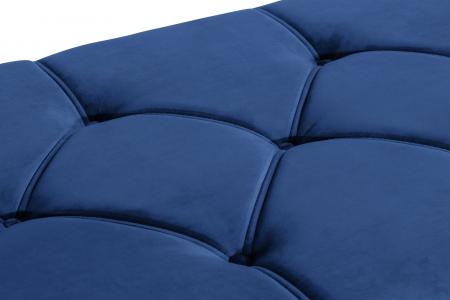 Pat de zi Diana, Albastru, 185x40x75 cm4