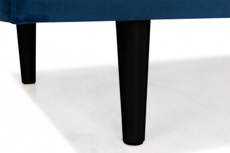Pat de zi Diana, Albastru petrol, 185x40x75 cm3
