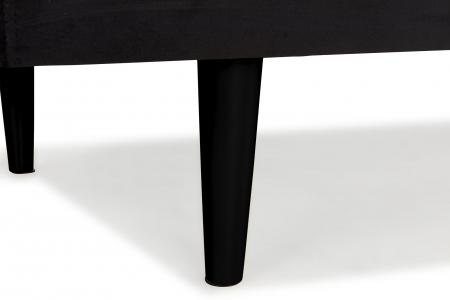 Pat de zi Diana, Negru, 185x40x75 cm3