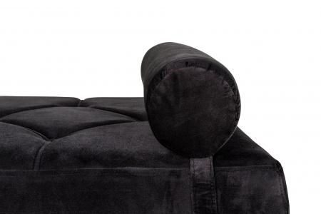 Pat de zi Diana, Negru, 185x40x75 cm6