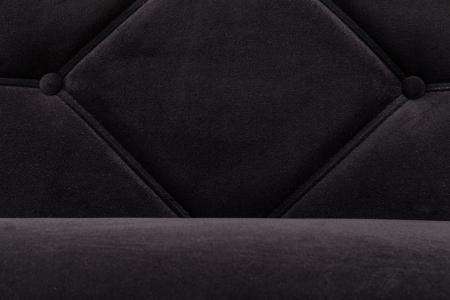 Pat de zi Diana, Negru, 185x40x75 cm4