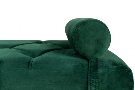Pat de zi Diana, Verde inchis, 185x40x75 cm3