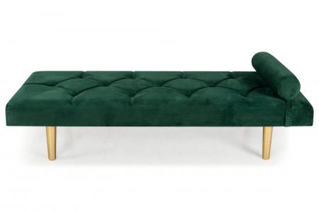 Pat de zi Diana, Verde inchis, 185x40x75 cm0