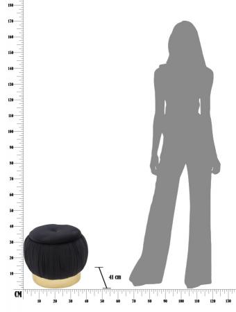 Puf cu spatiu depozitare PARIS, negru, 41X41 cm, Mauro Ferretti9