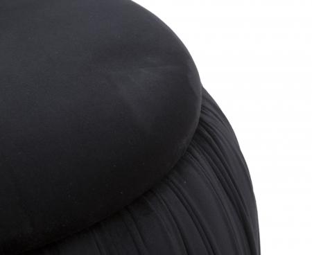 Puf cu spatiu depozitare PARIS, negru, 41X41 cm, Mauro Ferretti3