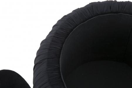 Puf cu spatiu depozitare PARIS, negru, 41X41 cm, Mauro Ferretti8
