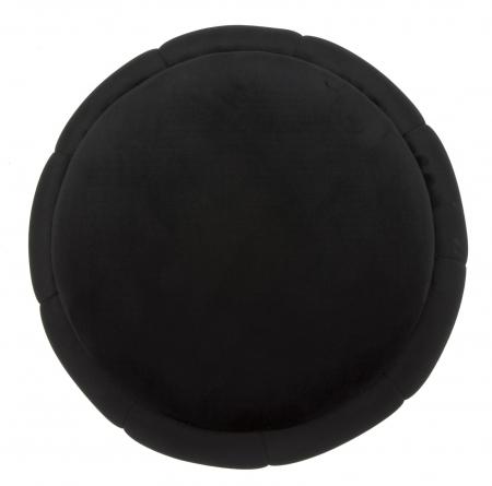 Puf cu spatiu depozitare PARIS negru/argintiu (cm) Ø 43X431