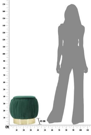 Puf cu spatiu depozitare PARIS, verde, 41X41 cm, Mauro Ferretti8