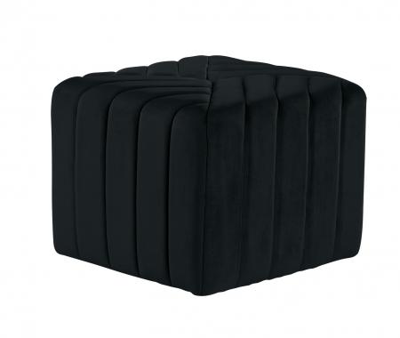 Puf MONTREAL, textil, negru, 43.5x36.5x43.5 cm1
