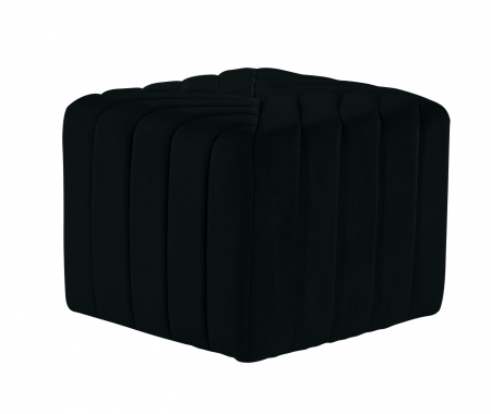 Puf MONTREAL, textil, negru, 43.5x36.5x43.5 cm0