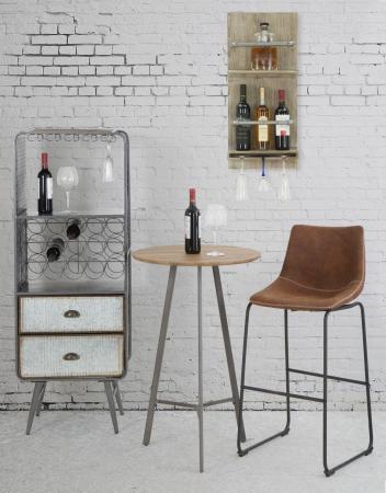 Raft pentru sticle si pahare, 34X12X76 cm, Mauro Ferretti9