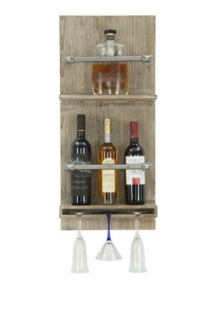 Raft pentru sticle si pahare, 34X12X76 cm, Mauro Ferretti0