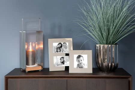 Rama foto dubla JANA, placata cu nichel, 28.8 x 22.2 x 2.1 cm, Fink [1]