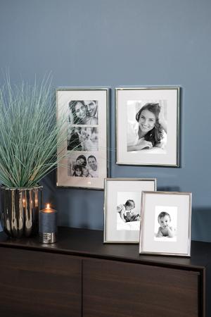 Rama foto TAJO, placata cu argint, 3 cadre 13X18, Fink1