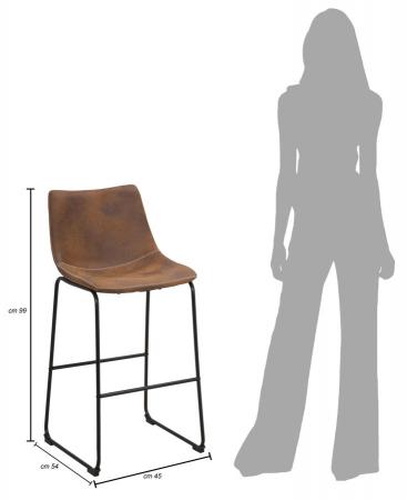 Scaun de bar METROPOLITAN, 45X54X99 cm, Mauro Ferretti9