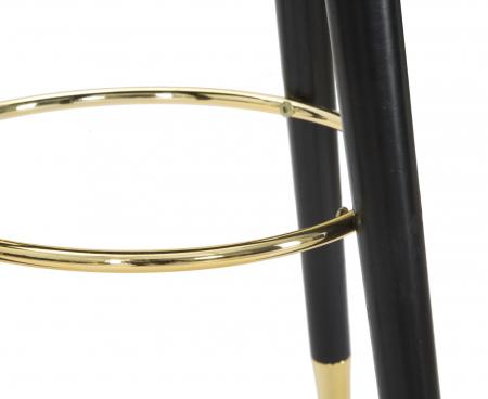 Scaun de bar PARIS negru/auriu (cm) Ø 35X743