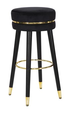 Scaun de bar PARIS negru/auriu (cm) Ø 35X740