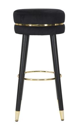 Scaun de bar PARIS negru/auriu (cm) Ø 35X741