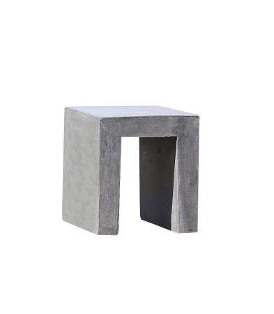 Scaun de exterior, ciment, gri, 40x45x40 cm1