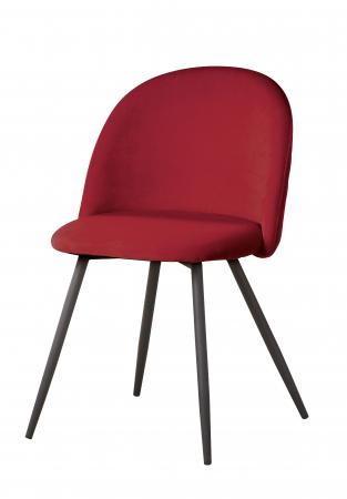Scaun MERAN, cadru metal, rosu, 45x79.5x43 cm [1]