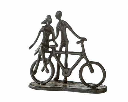 Figurina PAIR ON BIKE, rasina, 15x8x15 cm0