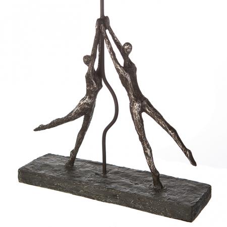 Figurina HEART-BALLOON, rasina, 26x8x48 cm3