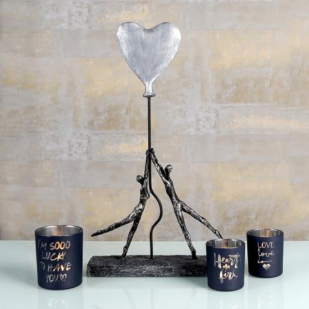 Figurina HEART-BALLOON, rasina, 26x8x48 cm4