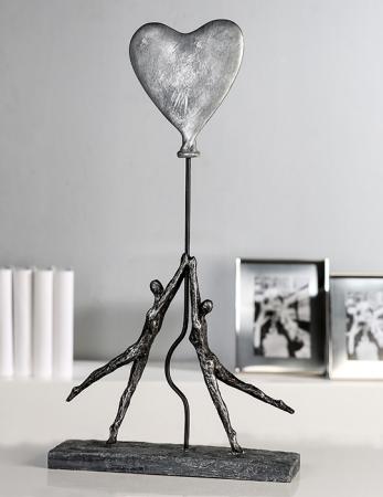 Figurina HEART-BALLOON, rasina, 26x8x48 cm0