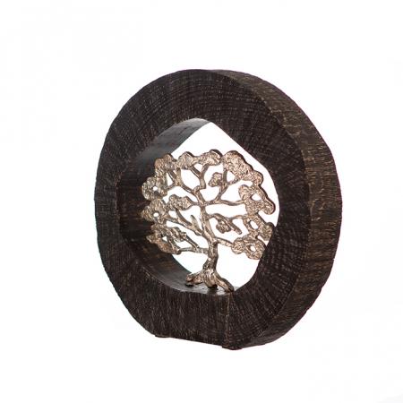 Figurina BEECH, aluminiu/lemn, 35x7x34 cm4
