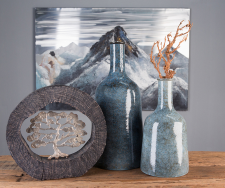 Figurina BEECH, aluminiu/lemn, 35x7x34 cm5