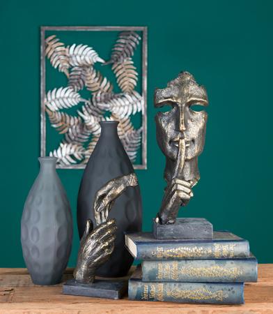 Figurina SILENCE, rasina, 13x13x39 cm3