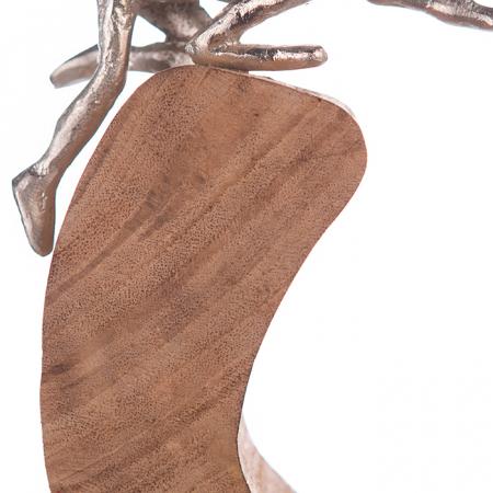 Figurina SUPPORT, lemn/aluminiu, 29x7x24 cm2