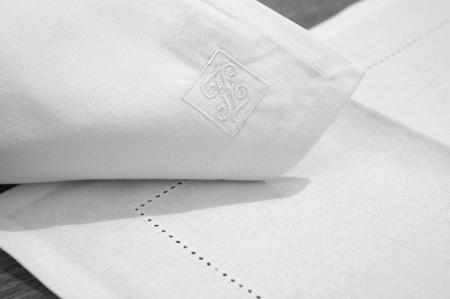 Servete de masa FONJA, bumbac, alb, 37x52 cm0