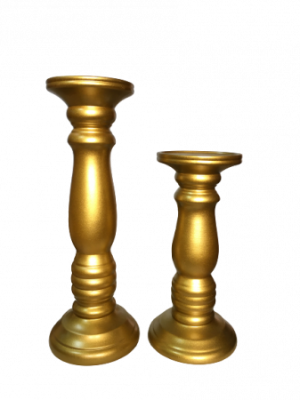 Set 1 Lampa cu 2 sfesnice TOWER, ceramica, albastru/auriu, 37/40/30 cm1